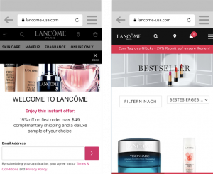 Lancômes Progressive Web Apps