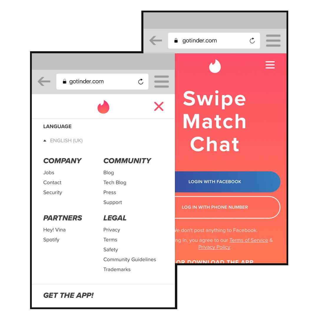 Die Progressive Web App von Tinder - pwa.bar