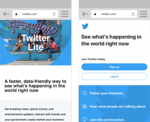 Twitter Lite-Progressive Web Apps