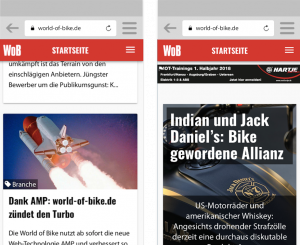 World-of-Bike und Progressive Web Apps